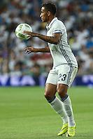 Real Madrid's Danilo during the XXXVII Bernabeu trophy between Real Madrid and Stade de Reims at the Santiago Bernabeu Stadium. August 15, 2016. (ALTERPHOTOS/Rodrigo Jimenez) /NORTEPHOTO