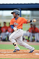 GCL Astros catcher Randy Vasquez (61) at bat during a game against the GCL Nationals on August 14, 2016 at the Carl Barger Baseball Complex in Viera, Florida.  GCL Nationals defeated GCL Astros 8-6.  (Mike Janes/Four Seam Images)