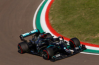 31st October 2020, Imola, Italy; FIA Formula 1 Grand Prix Emilia Romagna, Qualifying;  44 Lewis Hamilton GBR, Mercedes-AMG Petronas Formula One Team, Imola Italy takes 2nd on pole