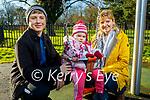 Amelia, Adrian and Aneta Paluszczak enjoying the playground in the Tralee town park on Saturday.