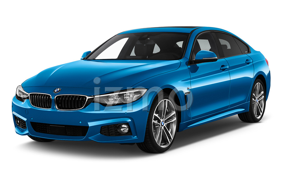 2017 BMW 4 Series Gran Coupe M Sport 5 Door Hatchback angular front stock photos of front three quarter view