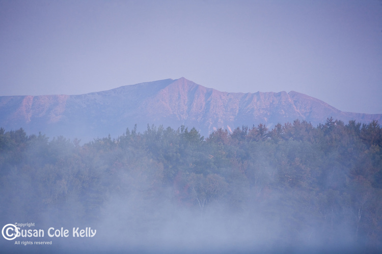 Mt Katahdin and Baxter State Park  in mist from Dolby Pond, Millinocket, ME