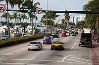 Miami, Florida.  Collins Avenue, North Beach.  Indian Creek on left.