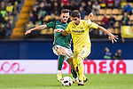 José Ángel Valdés Díaz (r) of Villarreal CF battles for the ball with Manuel Coronado Plá, Lolo, of CD Toledo during their Copa del Rey 2016-17 match between Villarreal CF and CD Toledo at the Estadio El Madrigal on 20 December 2016 in Villarreal, Spain. Photo by Maria Jose Segovia Carmona / Power Sport Images