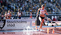 4th July 2021; Stockholm Olympic Stadium, Stockholm, Sweden; Diamond League Grand Prix Athletics, Bauhaus Gala; Gesa Krause in the women's  3000m Steeple Chase