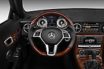 Steering wheel view of a 2013 Mercedes SLK Class