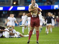 Stanford, CA - December 8, 2019: Sophia Smith, Katie Meyer at Avaya Stadium. The Stanford Cardinal won their 3rd National Championship, defeating the UNC Tar Heels 5-4 in PKs after the teams drew at 0-0.