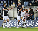 15/11/2008  Copyright Pic: James Stewart.File Name : sct_jspa05_falkirk_v_motherwell.MICHAEL HIGDON IS CONGRATLATED BY JACKIE MCNAMARA AFTER HE SCORES FALKIRK'S FIRST.James Stewart Photo Agency 19 Carronlea Drive, Falkirk. FK2 8DN      Vat Reg No. 607 6932 25.Studio      : +44 (0)1324 611191 .Mobile      : +44 (0)7721 416997.E-mail  :  jim@jspa.co.uk.If you require further information then contact Jim Stewart on any of the numbers above.........