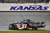 NASCAR Camping World Truck Series<br /> Toyota Tundra 250<br /> Kansas Speedway, Kansas City, KS USA<br /> Friday 12 May 2017<br /> Kyle Busch, Cessna Toyota Tundra celebrates his win with a burnout<br /> World Copyright: Nigel Kinrade<br /> LAT Images<br /> ref: Digital Image 17KAN1nk07774