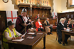 Court of Arraye. Lichfield Greenhill Bower. Interior The Guildhall. Lichfield Staffordshire