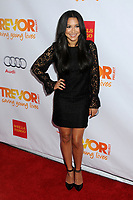 "13 July 2020 - Naya Rivera, the actress best known for playing cheerleader Santana Lopez on Glee, has been confirmed dead. Rivera, 33, is believed to have drowned while swimming in the lake with her 4-year-old son, who was found asleep on their rental pontoon boat after it was overdue for return. 2 December 2012 - Hollywood, California - Naya Rivera. The Trevor Project's ""Trevor Live"" 2012 held at the Hollywood Palladium. Photo Credit: Byron Purvis/AdMedia"