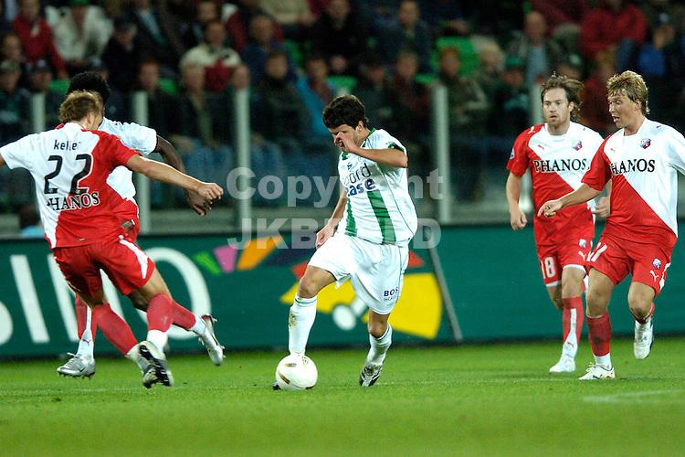 groningen - fc utrecht  eredivisie seizoen 2007-2008 14-09- 2007 van der laak  met keller