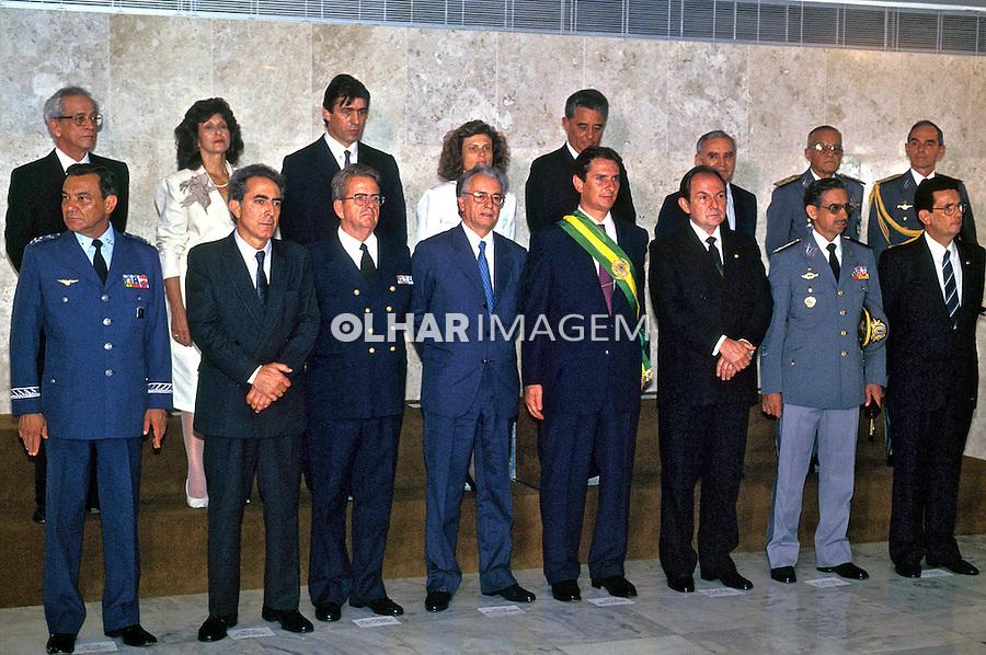 Ministério do governo Collor em Brasìlia. 1990. Foto de Ricardo Azoury.