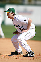 February 20, 2009:  First baseman Jeff Holm (27) of Michigan State University during the Big East-Big Ten Challenge at Jack Russell Stadium in Clearwater, FL.  Photo by:  Mike Janes/Four Seam Images