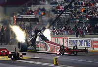 Sep 4, 2020; Clermont, Indiana, United States; NHRA top fuel driver Billy Torrence during qualifying for the US Nationals at Lucas Oil Raceway. Mandatory Credit: Mark J. Rebilas-USA TODAY Sports
