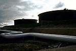 Sullom Voe oil gas terminal 1970s Shetland Islands Scotland construction of oil industry site for BP British Petroleum to take North Sea oil. 1979