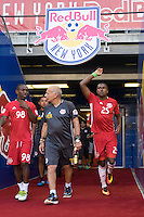 Harrison, NJ - Wednesday July 06, 2016: Shaun Wright-Phillips, Chris Duvall during a friendly match between the New York Red Bulls and Club America at Red Bull Arena.
