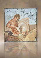 Roman Mosaic of Satyr and Ninfa from the Casa del Fauno (House of the Faun) Pompeii, inv 27707 , Naples National Archaeological Museum ,  art background