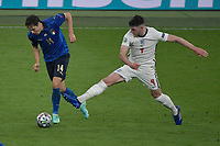 Federico Chiesa of Italy and Declan Rice of England during the Uefa Euro 2020 Final football match between Italy and England at Wembley stadium in London (England), July 11th, 2021. <br /> Photo Andrea Staccioli / Insidefoto