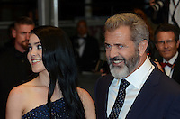 Rosalind Ross Mel Gibson attend the 'Blood Father' Premiere during the 69th annual Cannes Film Festival at the Palais des Festivals on May 21, 2016 in Cannes