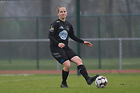 Woluwe's Stefanie Deville (3) pictured during a female soccer game between SV Zulte - Waregem and White Star Woluwe on the 9th matchday of the 2020 - 2021 season of Belgian Scooore Women s SuperLeague , saturday 12 th of December 2020  in Waregem , Belgium . PHOTO SPORTPIX.BE | SPP | DIRK VUYLSTEKE