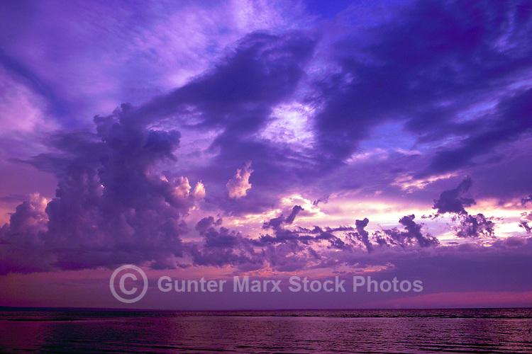Haida Gwaii (Queen Charlotte Islands), Northern BC, British Columbia, Canada - Sunset over Graham Island