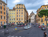 Travel Art Print Photograph. <br /> The vibrant character of Rome is revealed in this photograph of a lone male wearing a bright blue shirt and colourful yellow pants. Even though the city is filled with activity, the man clearly stands out on this busy Roman street.