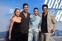 "LOS ANGELES - JUL 15:  Becca Tobin, Josh Peck, Lyndsy Fonseca, John Stamos at Disney+ ""Turner & Hooch"" Premiere Event at Westfield Century City Mall on July 15, 2021 in Century City, CA"
