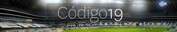 PORTO ALEGRE, RS, 09.08.2021 - GREMIO - CHAPECOENSE - Vista panorâmica da Arena do Grêmio sem torcida, devido a Pandemia, na partida entre Grêmio e Chapecoense, válida pela 15. rodada do Campeonato Brasileiro 2021, no estádio Arena do Grêmio, em Porto Alegre, nesta segunda-feira (09).