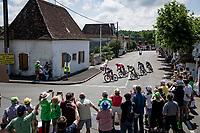 Julien Bernard (FRA/Trek - Segafredo) leading teh first breakaway group<br /> <br /> Stage 19 from Mourenx to Libourne (207km)<br /> 108th Tour de France 2021 (2.UWT)<br /> <br /> ©kramon