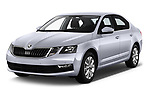 2017 Skoda Octavia Ambition 5 Door Hatchback angular front stock photos of front three quarter view