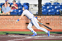 Burlington Royals Michael Massey (6) swings at a pitch during game one of the Appalachian League Championship Series against the Johnson City Cardinals at TVA Credit Union Ballpark on September 2, 2019 in Johnson City, Tennessee. The Royals defeated the Cardinals 9-2 to take the series lead 1-0. (Tony Farlow/Four Seam Images)