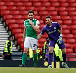 Darren McGregor consoled by Hibs keeper Ofir Marciano after own goal