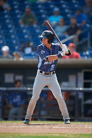 West Michigan Whitecaps center fielder Brock Deatherage (19) at bat during a game against the Quad Cities River Bandits on July 23, 2018 at Modern Woodmen Park in Davenport, Iowa.  Quad Cities defeated West Michigan 7-4.  (Mike Janes/Four Seam Images)