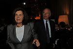 PAOLA SEVERINO CON IL MARITO PAOLO DI BENEDETTO<br /> PREMIO GUIDO CARLI - TERZA  EDIZIONE<br /> PALAZZO DI MONTECITORIO - SALA DELLA LUPA<br /> CON RICEVIMENTO  HOTEL MAJESTIC   ROMA 2012