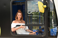 Ferne McCann<br /> at the launch of anti-bullying #BeNiceBus with The Diana Award, Dulwich, London. <br /> <br /> <br /> ©Ash Knotek  D3275  07/06/2017