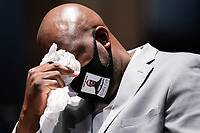 Philonise Floyd, George Floyd's brother, tears up while testifying during a United States House Judiciary Committee at a hearing on police accountability on Capitol Hill in Washington, DC on June 10, 2020.<br /> Credit: Erin Schaff / Pool via CNP/AdMedia