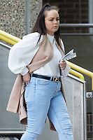 Pictured: Debra Cole outside Crown Court in Merthyr Tydfil, Wales, UK.<br /> Re: Mother-of-three Debra Cole who is accused of keeping sponsorship money after shaving  her hair off in a charity fundraiser at Maerdy, Rhondda, has denied fraud charges during her trial at Merthyr Tydfil Crown Court, Wales, UK.