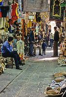 Tunisia.  Tunis Medina.  Street Scene in the Souq.
