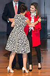 Sara Baras and Queen Letizia during the delivery of the accreditations to the new ambassadors of the Marca España 2017 at Reina Sofia Museum in Madrid. March 14, 2017. (ALTERPHOTOS/Borja B.Hojas)