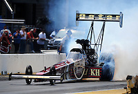 Jul, 10, 2011; Joliet, IL, USA: NHRA top fuel dragster driver Del Worsham during the Route 66 Nationals at Route 66 Raceway. Mandatory Credit: Mark J. Rebilas-