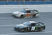 #18: Riley Herbst, Joe Gibbs Racing, Toyota Supra Monster Energy, #02: Brett Moffitt, Our Motorsports, Chevrolet Camaro FR8 Auctions