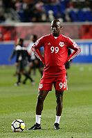 Harrison, NJ - Tuesday April 10, 2018: Bradley Wright-Phillips prior to leg two of a  CONCACAF Champions League semi-final match between the New York Red Bulls and C. D. Guadalajara at Red Bull Arena. C. D. Guadalajara defeated the New York Red Bulls 0-0 (1-0 on aggregate).
