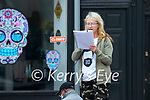 Noreen Horgan at the lockdown protest in Tralee on Saint Patrick's day.