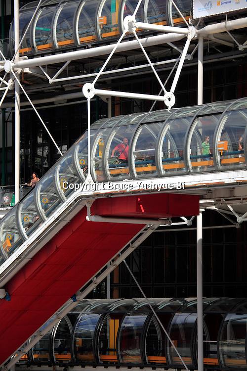 Exterior view of Centre Georges Pompidou. City of Paris. Paris