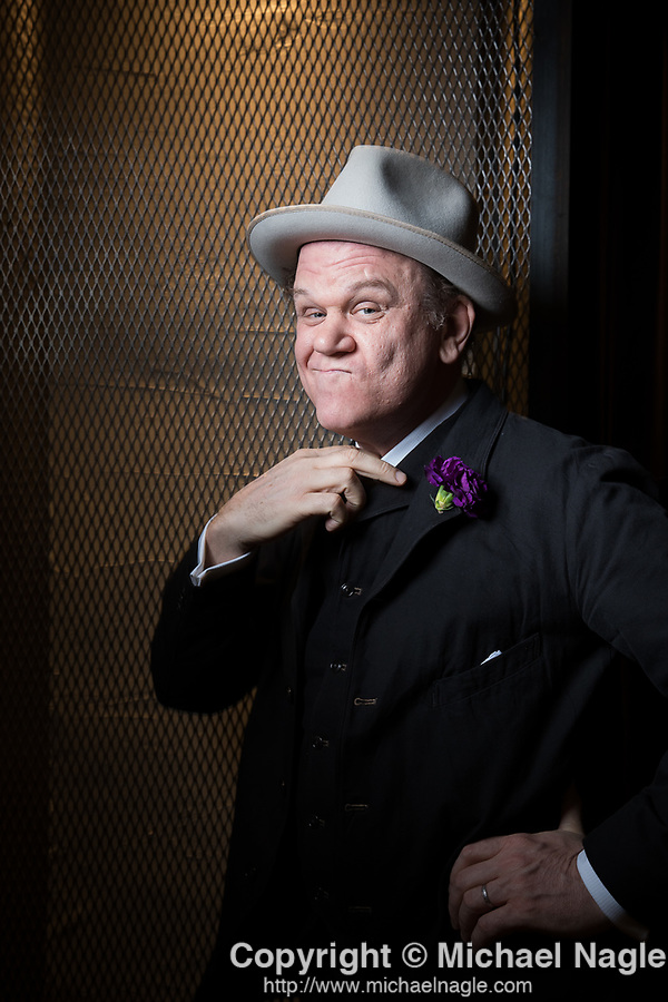 """NEW YORK -- DECEMBER 9, 2018:  Actor John C. Reilly who stars in the movie """"Stan & Ollie,"""" about the beloved comedy duo Stan Laurel and Oliver Hardy, poses for a portrait at Neuehouse on December 9, 2018 in New York City.  (Michael Nagle for The Times)"""