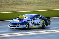 Sept. 23, 2012; Ennis, TX, USA: NHRA pro stock driver Rodger Brogdon during the Fall Nationals at the Texas Motorplex. Mandatory Credit: Mark J. Rebilas-
