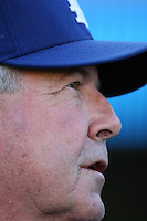 Los Angeles Dodgers Manager Grady Little during batting practice before a 2007 MLB season game at Dodger Stadium in Los Angeles, California. (Larry Goren/Four Seam Images)