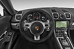 Car pictures of steering wheel view of a 2015 Porsche Cayman S 2 Door Coupe Steering Wheel