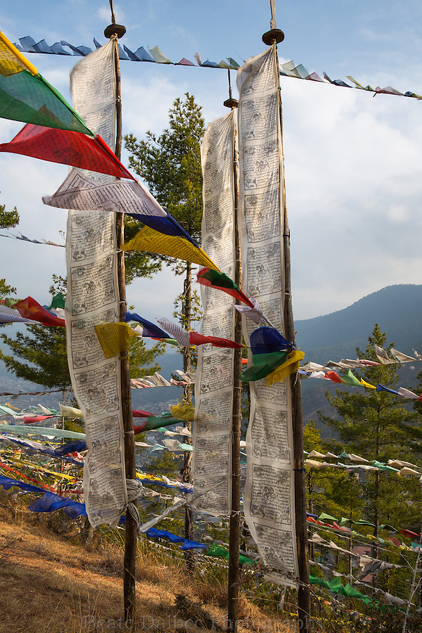Prayer flags in Thimpu, Bhutan